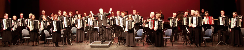 New Zealand Accordion Orchestra conducted by Gary Daverne