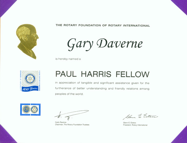 Paul Harris Rotary Award