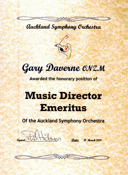 Music Director Emeritus Gary Daverne