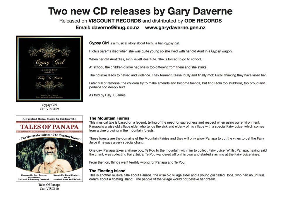 Two new CD releases