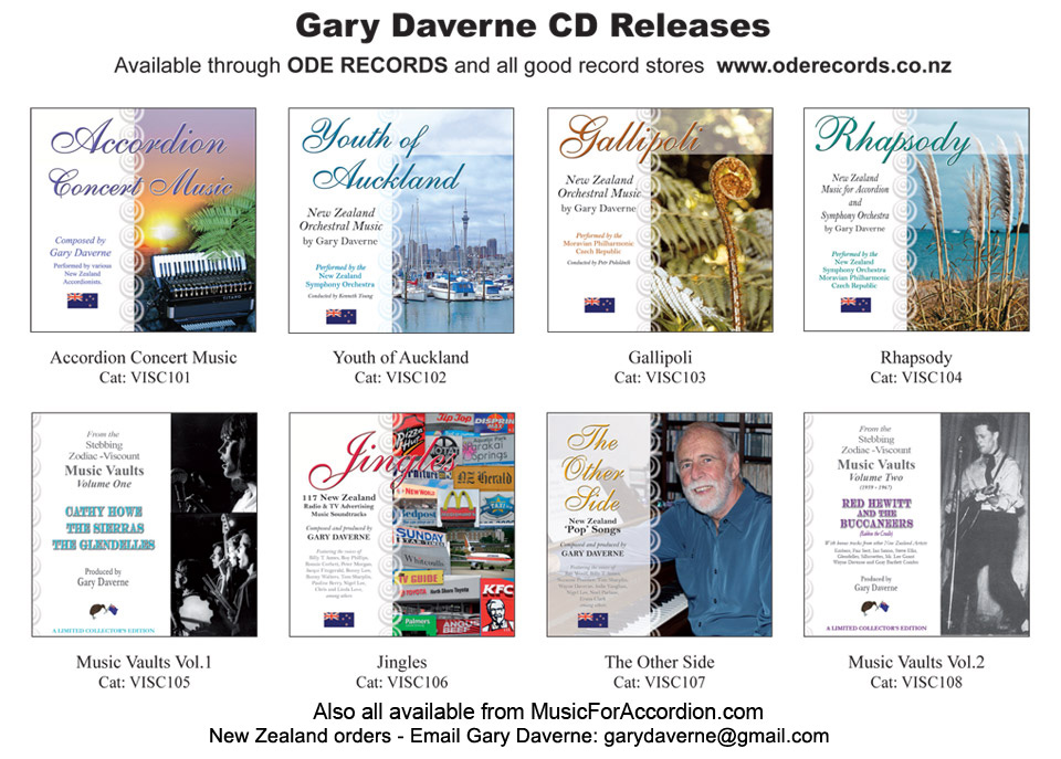 Accordion Compositions By Gary Daverne
